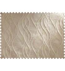 Brown Beige Waves Main Curtain Designs