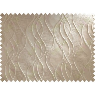 Brown Beige Waves Main Curtain Designs