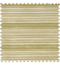 Green grey color horizontal chenille stripes texture finished with transparent polyester base fabric sheer curtain
