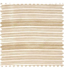 Gold grey color horizontal chenille stripes texture finished with transparent polyester base fabric sheer curtain