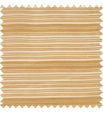 Gold color horizontal chenille stripes texture finished with transparent polyester base fabric sheer curtain