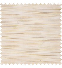 Beige cream color embossed horizontal chenille stripes vertical thin lines texture surface with transparent polyester base fabric sheer curtian
