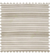 Brown grey color horizontal chenille stripes texture finished with transparent polyester base fabric sheer curtain