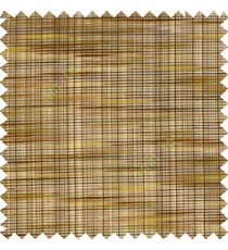 Brown yellow black purple color embossed horizontal chenille stripes vertical thin lines texture surface with transparent polyester base fabric sheer curtian