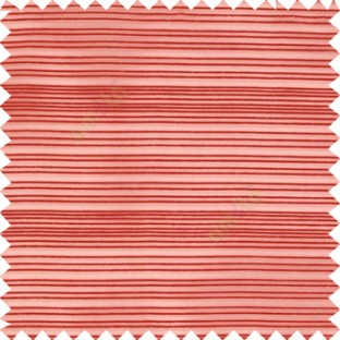 Red color horizontal chenille stripes texture finished with transparent polyester base fabric sheer curtain