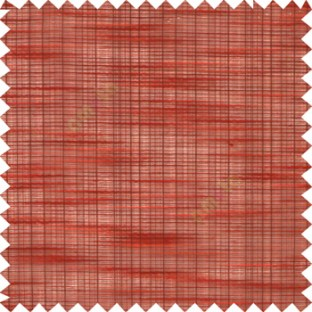 Red black cream color embossed horizontal chenille stripes vertical thin lines texture surface with transparent polyester base fabric sheer curtian