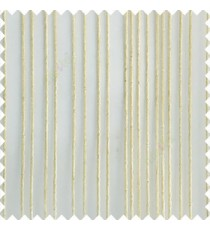 Cream color vertical stripes texture finished transparent net fabric polyester chenille sheer curtain