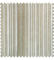 Grey cream color vertical stripes texture finished transparent net fabric polyester chenille sheer curtain