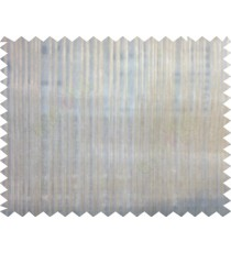 Brown color vertical stripes with thin fabric poly sheer curtain - 104789
