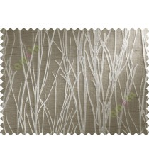Brown Grey Stick Polycotton Main Curtain-Designs