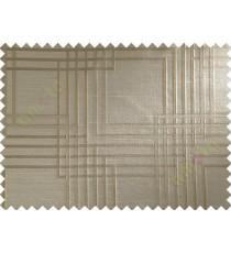Brown Beige Everlasting Pattern Polycotton Main Curtain-Designs