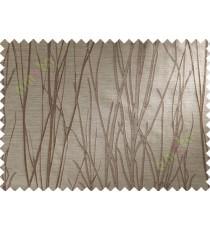 Brown Beige Stick Polycotton Main Curtain-Designs