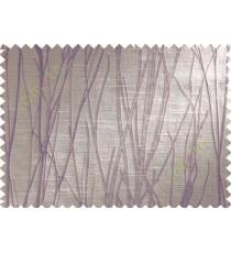 Purple Brown Stick Polycotton Main Curtain-Designs