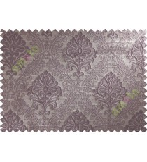 Purple Beige Damask Polycotton Main Curtain-Designs