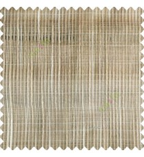 Beige cream color vertical chenille soft fabric horizontal thin support lines transparent net fabric sheer curtain