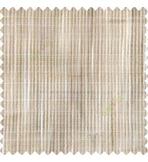 Cream beige color vertical chenille soft fabric horizontal thin support lines transparent net fabric sheer curtain