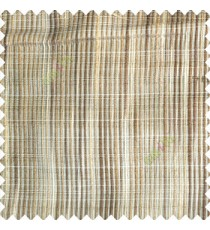 Brown grey beige color vertical chenille soft fabric horizontal thin support lines transparent net fabric sheer curtain