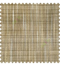 Black beige cream color vertical chenille soft fabric horizontal thin support lines transparent net fabric sheer curtain