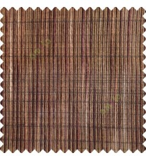 Dark chocolate brown black beige color vertical chenille soft fabric horizontal thin support lines transparent net fabric sheer curtain