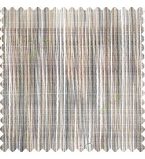Grey cream brown color vertical chenille soft fabric horizontal thin support lines transparent net fabric sheer curtain