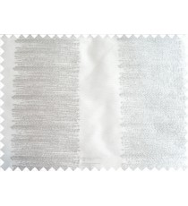 White and Silver Color Horizontal Pencil Stripes with Vertical Emb Stripes Polyester Sheer Curtain-Designs