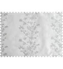 White Silver Color Vertical Seamless Metisse Emb Pattern with Horizontal Pencil Stripes Polyester Sheer Curtain-Designs