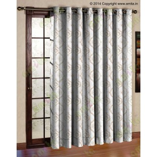 Pure White Beige Color Traditional Emb Damask Pattern Polyester Sheer Curtain-Designs