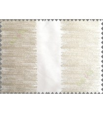 Pure White Beige Color Horizontal Pencil Stripes with Vertical Emb Stripes Polyester Sheer Curtain-Designs