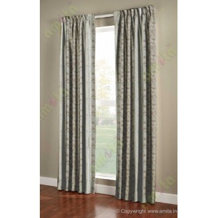 Pure White Color Vertical Seamless Metisse Emb Pattern with Horizontal Pencil Stripes Polyester Sheer Curtain-Designs