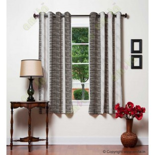 Pure White Black Brown Color Horizontal Pencil Stripes with Vertical Emb Stripes Polyester Sheer Curtain-Designs