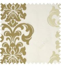 Large Gold Silver Traditional Damask vertical hanging Chandelier design transparent sheer curtain