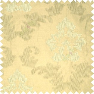 Light brown color big damask beautiful embroidery pattern swirls traditional designs with solid background polyester main curtain
