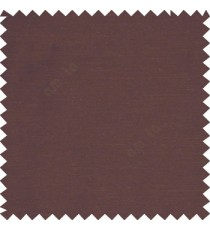 Dark chocolate brown color solid fabric with horizontal stipes Poly Main Curtain