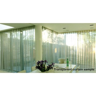 Linen look cotton base off white geometric shapes transparent background with circles on a strip sheer curtain