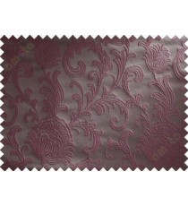 Purple brown floral poly main curtain designs