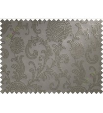 Brown floral poly main curtain designs