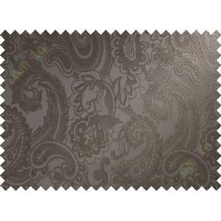 Brown big motif poly main curtain designs