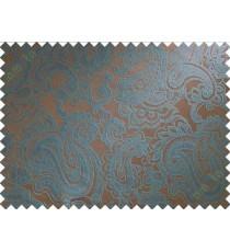 Brown blue big motif poly main curtain designs
