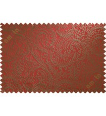 Red trendy traditional poly main curtain designs