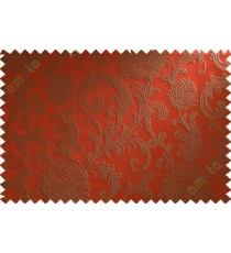 Brown red floral poly main curtain designs