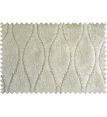 Khaki stencil polycotton main curtain designs