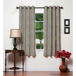 Khaki matisse polycotton main curtain designs