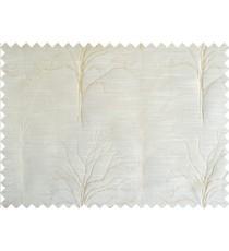 Khaki tree polycotton main curtain designs