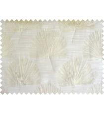 Khaki annapurna floral poly main curtain designs