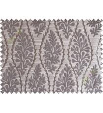 Brown stencil polycotton main curtain designs