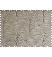 Brown tree polycotton main curtain designs