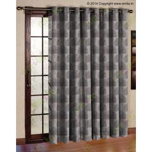 Brown annapurna floral poly main curtain designs