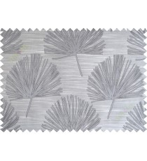 Dark grey annapurna floral poly main curtain designs