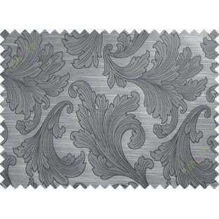 Dark grey big motif poly main curtain designs