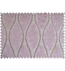 Pink brown stencil polycotton main curtain designs